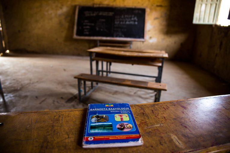 Empty Oromo Classroom