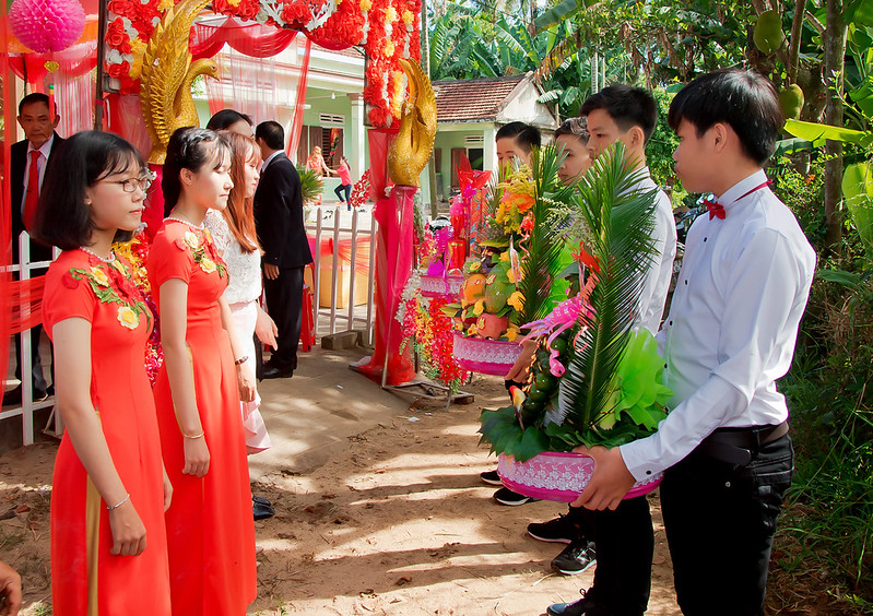 Traditional Cambodian wedding ceremony