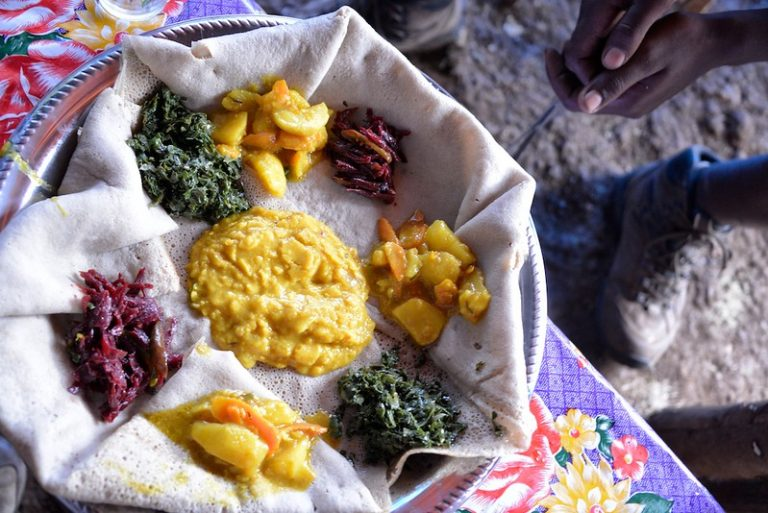 Injera, fasting food, Ethiopia