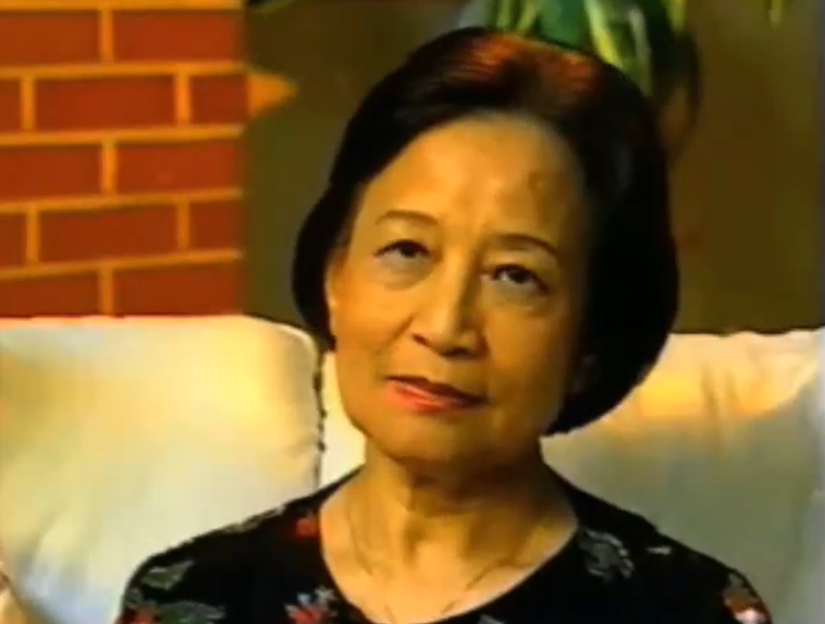 Vietnamese woman being interviewed