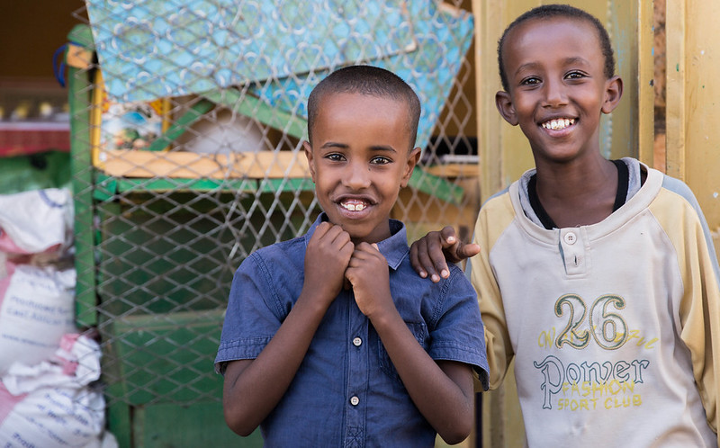 Somali boys smiling