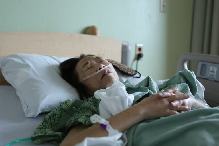 Woman in hospice