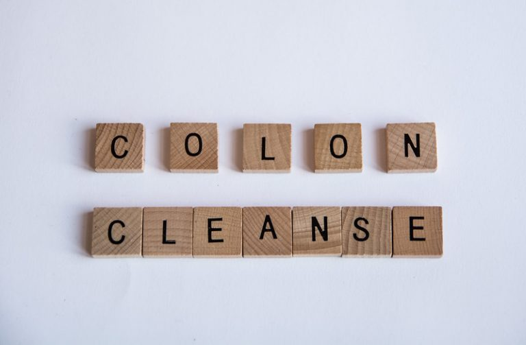 Colon Cleanse spelled using scrabble