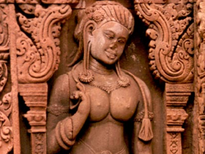 Stone Carving of Woman