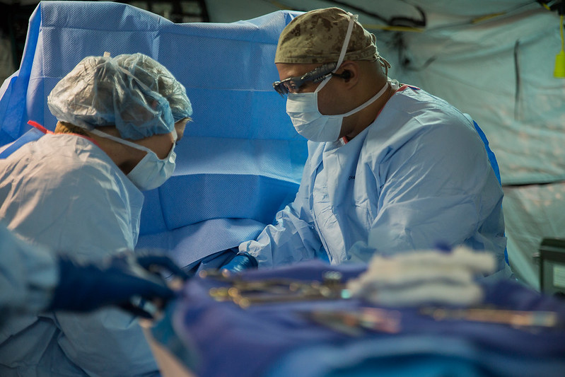 surgeon and assistant in the OR