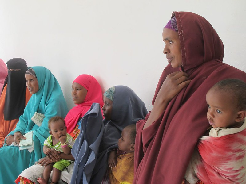Somali women and their children
