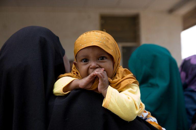 Somali baby wearing hijab