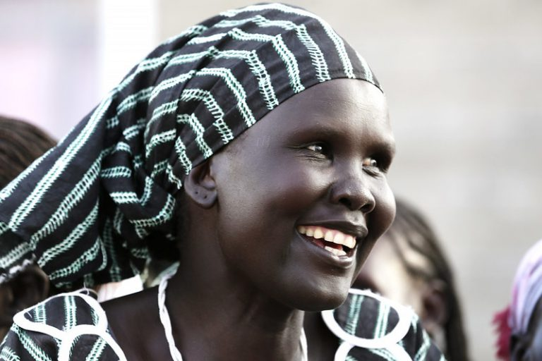 Somali woman smiling