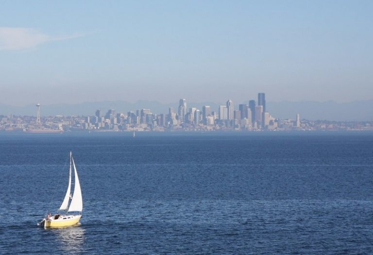 sailboat in puget sound waters