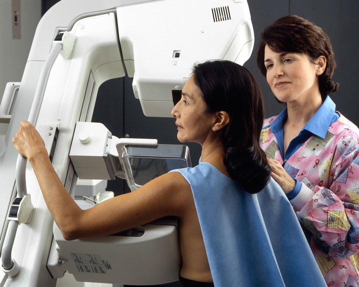 Woman Receiving a Mammogram NCI