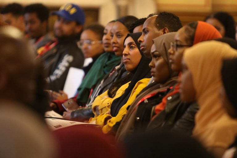 Photo of members of the Somali community at an event