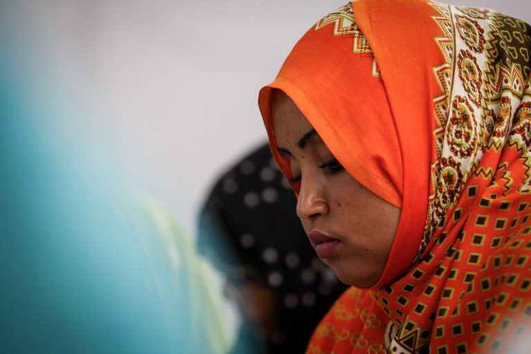Profile of a Somali woman