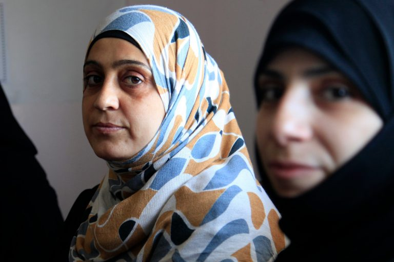 Women refugees from Syria at a clinic in Jordan