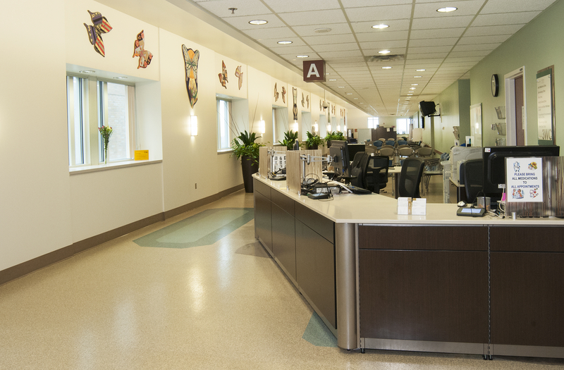 Image of a clinic check-in area