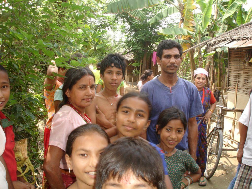 Lhotsampa refugees in camp
