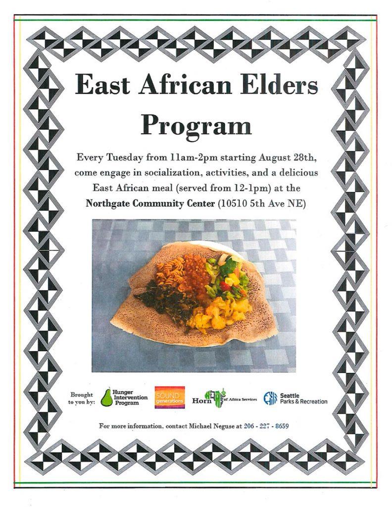 East African Elders Program Flyer