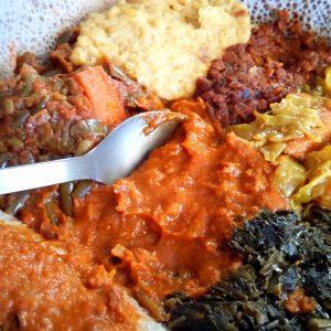 Ethiopian Veggie Platter