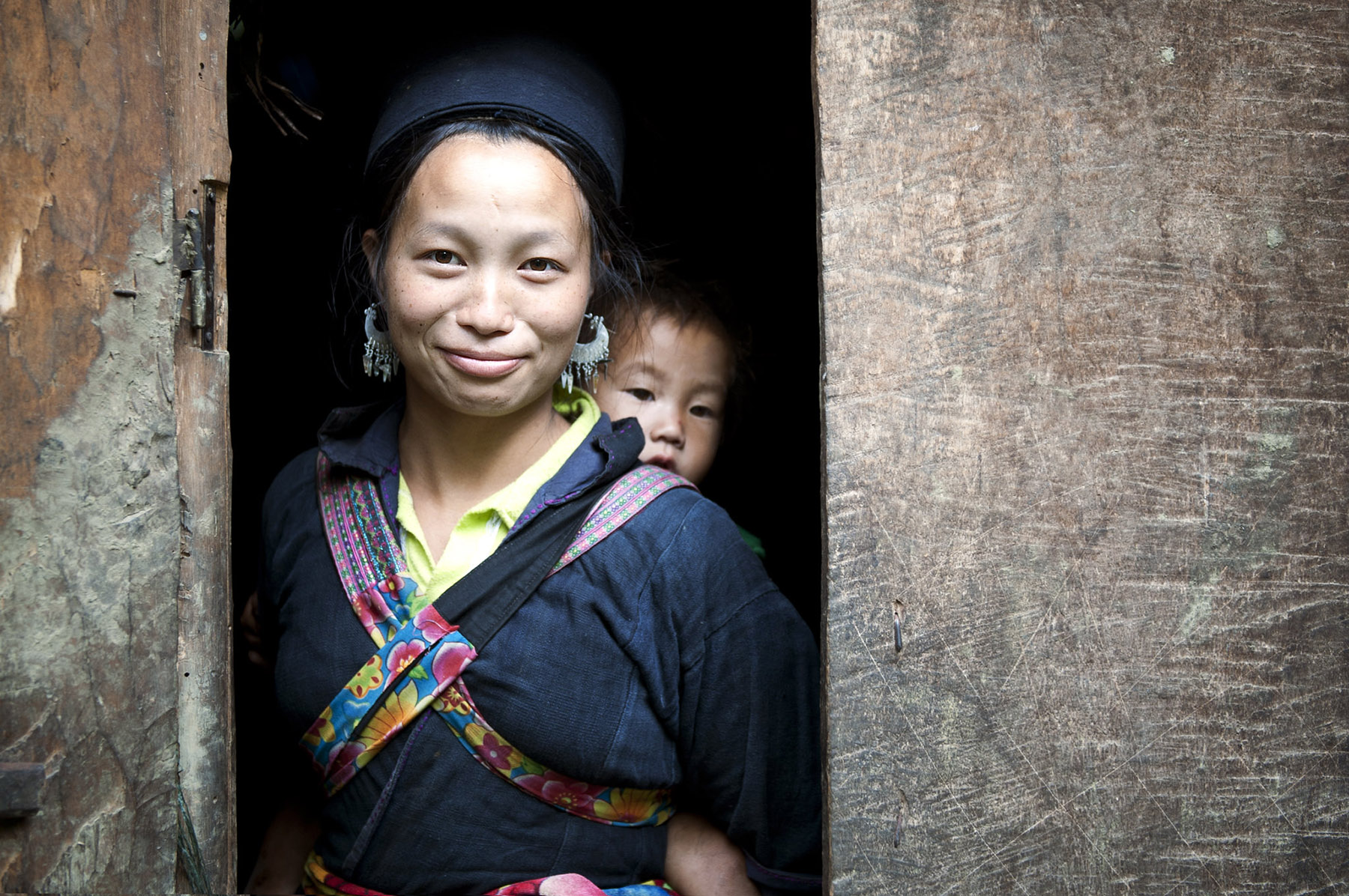 Hmong woman and baby