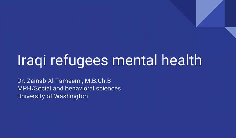Iraqi Refugee Mental Health Video Slideshow