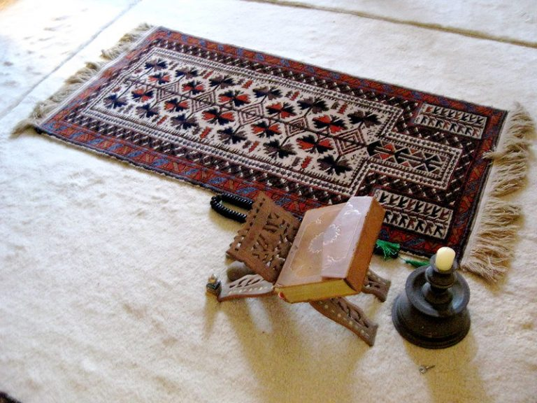 A prayer space in a Muslim house