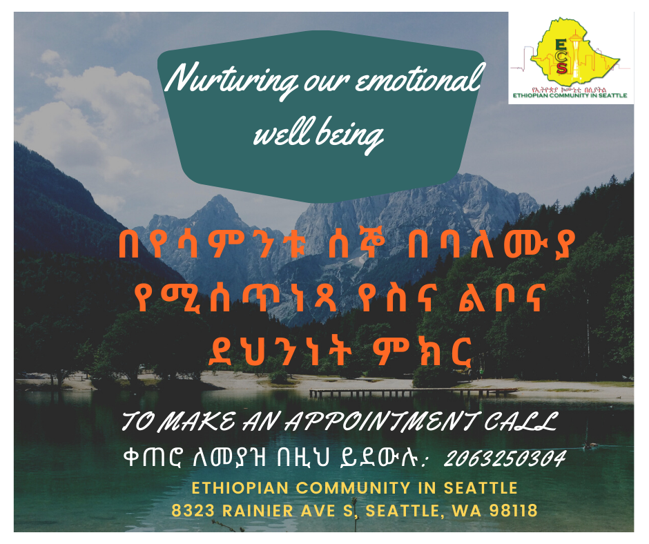 Flyer for Ethiopian Mental Health Counseling Sessions