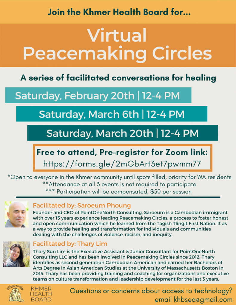 Flyer for Virtual Peacemaking Circles