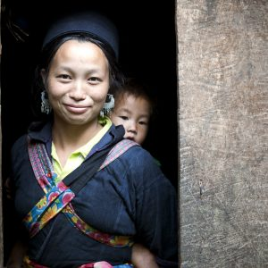 Hmong woman and her baby